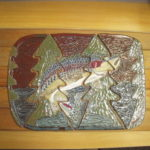 Jumping Trout Tile Mural